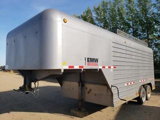 2006 Millco Steel 24ft T/A Fifth Wheel Enclosed Job Site Trailer C/w Cabinets And Lighting. Unit 119. VIN 2T9FV122X6B004009