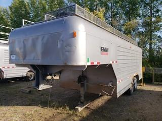 Millco Steel 26ft Dual T/A Fifth Wheel Enclosed Job Site Trailer C/w Cabinets And Lighting. Unit 110.