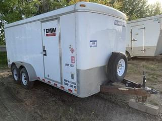 2014 Sure-Tec 16ft T/A Enclosed Trailer C/w Shelving, Lighting, 2 5/16 Ball. Unit 133. VIN 5JW1C1620E2090556