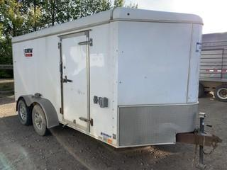 2012 United Express Line 16ft T/A Enclosed Trailer C/w Shelving, 2 5/16 Ball. Unit 131. VIN 48BTE1425CA122731