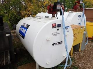 2014 Westeel 2290L Double Walled Fuel Tank C/w Fill Rite 115V Pump And Series 800C Meter *Buyer Responsible For Load Out*