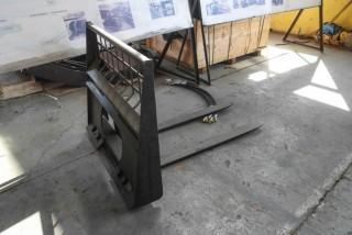 "Pallet Fork, 48"" Fork Lengths Skid Steer Attachment"
