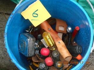 Bucket of Misc Tools.