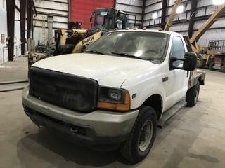 2001 Ford F250 Flat Deck Truck c/w Triton V8 SN 1FTNF21L91EC56103.