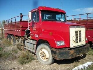 Unit 394: 1991 Freightliner Pipe Truck w/ Crane. VIN 1FVXZXYB7LL443532 **LOCATED IN CARBON**