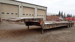 "Unit 459: 1995 Aspen FG40-3, 9'6"" X 51' Tridem Scissor Neck Lowbed C/w  A/R Susp, 24ft Working Deck, Beaver Tails w/ Flip Over Live Roll. CVIP 1/2020. VIN 2A9LB4031SS037332 **LOCATED IN CARBON**"