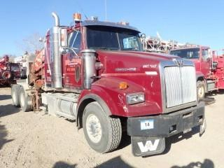 Unit 612: 2004 Western Star 4964FX T/A Crane Truck. CVIP 6/2020. Showing 638,618Kms, 12,461Hrs. VIN 5KJJALAV64PN01875 **LOCATED IN CARBON**