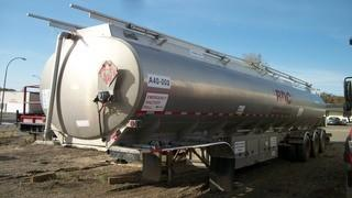 Unit 617: 2004 Columbia Remtec 40,000L Alum Tridem Tank Trailer C/w TC406 Spec, (1) 15,000L Compt, (1) 25,000L Compt, Hose And Reel, 8kw Genset w/ Kubota 3-cyl. CVIP 9/2020. VIN 2C9LCA3V941026070 **LOCATED IN CARBON**