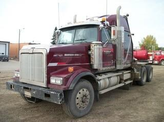 "Unit 625: 2006 Western Star 4900 T/A Winch Tractor C/w  Cat C-15 475hp Eaton Fuller RTL018918B 18-speed, 16,000lb frt, A/R 46,000lb Rears, 46"" Sleeper, Rufnek Hyd Winch, Lowbed, Double Lockup, 245"" w/b. CVIP Expires April 2020. Showing 936,640kms. VIN 5KJJAEAVX6PV13543 **LOCATED IN CARBON**"