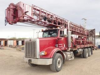 Unit 655: 2007 Atlas Copco TH60 900 HR2 DRILL Mounted On 2007 Peterbilt 357 Single Steer T/A Truck. Showing 890,674 Mi. CVIP Expires 10/2019. VIN 1NPAL40X27D661587 **LOCATED IN CARBON**