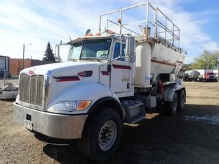 "Unit 749: 2009 Peterbilt PB340 T/A  Batching/Mixing Truck C/w PX-8 (8.3L) w/ PACCAR PX8, 8spd, 2008 Reimer Volumetric Mixer w/ 10-M production capacity @ 50-m/hr, 227"" w/b. CVIP Expires 10/2019. Showing 10,753Kms. VIN 2NPRLN0X49M783454 **LOCATED IN CARBON**"