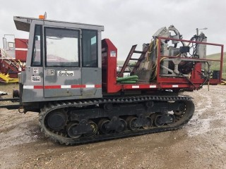 Unit 817: 1990 Morooka Model MST 800E Tilt Deck Track Carrier 4-roll w/ 24-in Rubber Pads. Showing 6375Hrs **LOCATED IN CARBON**