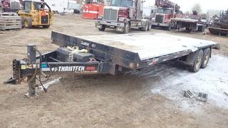 Unit 857: 2013 Trailtech 8' X 22' T/A Tilt Deck Equipment Trailer C/w Ball Hitch, 20' Deck, Tails. CVIP Jan 2020. VIN 2CU138LA3D2032587 **LOCATED IN CARBON**