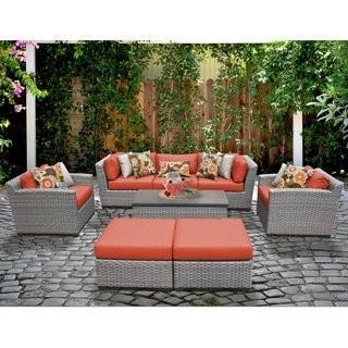 Meeks 8 Piece Sofa Seating Group with Cushions