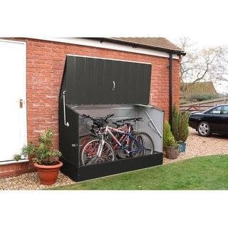 6.5 ft. W x 3 ft. D Metal Horizontal Bike Shed