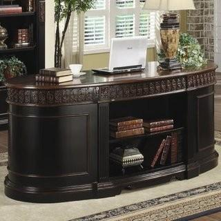 Lou Solid Wood Executive Desk