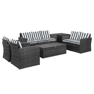 Arlington 6 Piece Rattan Sofa Seating Group with Cushions