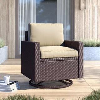 Meeks Swivel Patio Chair with Cushions