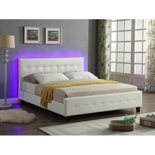 Causglen LED Upholstered Platform Bed