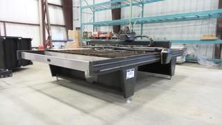 2013 EZCUT Plasma Cutting Table,  S/N V-304-P-KIT10216, 220V 1 Phase, 87 inch x 148 inch (Control Unit Missing)