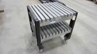 Rolling Shop Table, 30 inch x 33 inch x 36 inch high