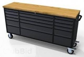 """72"""" Black Stainless Steel 15 Drawer Tool Chest"""