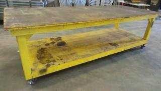 4 FT x 10FT Work Table on Wheels