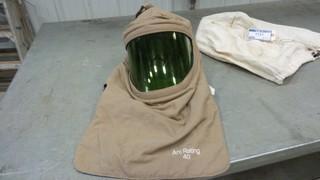 Paulson Arc Flash Hood, Model IM22-AFA 2-40-V, D.O.M. 10/2013, 40 Cal Rating *Located RE13*