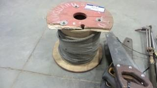 Quantity of Steel Cable, 5 Wood Saws, 4 Torches *Located RE13*