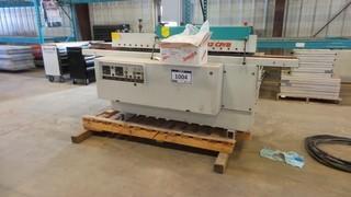 "Holzer Edge Bander 8"" Deck For Counter Tops and Shelving, c/w (23) glue sticks 230V AC 1PH #1432 CP/B"
