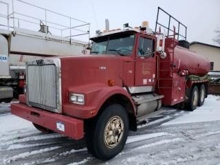 UNIT 506: 1995 Western Star 4964F single steer tandem drive rear axle truck. CVIP 1/2020. Showing 243,840hrs. VIN 2WLPCGCF7SK936087