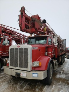 UNIT 722: 2006 Atlas Copco TH60 DRILL Mounted On 2008 Peterbilt Single Steer Tri-Axle Truck. VIN 1NPTX4EX38D757753