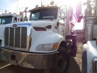 "UNIT 761: 2010 Peterbilt 340 T/A Mixer Truck C/w PX-8  (8.3L) 8spd, DSP41 Rears, 226"" w/b. 2009 Reimer Volumetric Mixer w/ 9-m3 production capacity @ 50-m/hr. 10,679 KMS *Add 32,659 KMS* CVIP 12/2019. VIN 2NPRLN0XXAM795595"