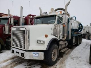 UNIT 855: 2004 Freightliner Single Steer Tandem Axle Vacuum Truck. CVIP 10/2019. Showing 505,396kms. VIN IFVHALAV04DM80779