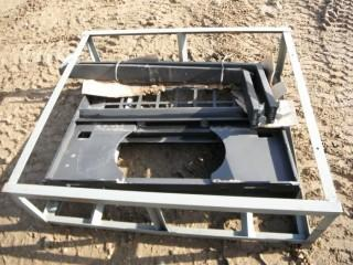 """New and Unused Pallet Fork, 48"""" Wide Skid Steer Attachment"""