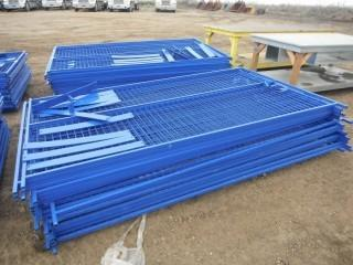 New and Unused 10'x6' Blue Construction Fence, 40 Panels, 400 Linear Feet