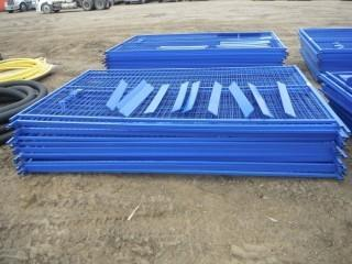 New and Unused 10'x6' Blue Construction Fence, 20 Panels, 200 Linear Feet