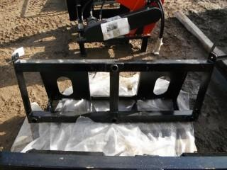 """New and Unused Bale Spear Skid Steer Attachment 2x32"""" Bottoms, 1x48"""" Top"""