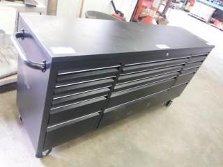 """New and Unused 72"""" 15 Drawer Powder Coating Steel Tool Chest HTC7215PC"""