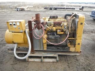 Kato AC Generator, DOM9-13-67, S/N 62079 c/w 60KW 75KVA, CAT D-330 Diesel Motor, Motor S/N 85B2006