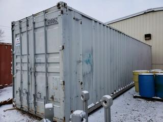 40ft Storage Container C/w Light Stands *Note: Contents Not Included, Buyer Responsible For Load Out*