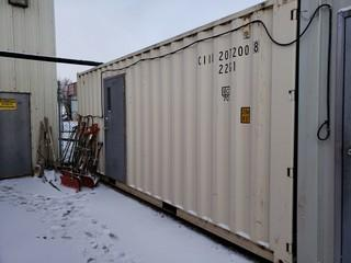 20ft Storage Container *Note: Contents Not Included, Buyer Responsible For Load Out* *Item Cannot Be Removed Until November 12, Unless Mutually Agreed Upon*