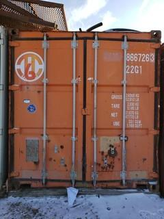 20ft Storage Container *Note:Contents Not Included, Buyer Responsible For Load Out*