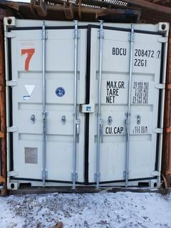 20ft Storage Container *Note:Contents Not Included, Buyer Responsible For Load Out* *Item Cannot Be Removed Until November 12 Unless Mutually Agreed Upon*