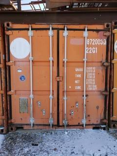 20ft Storage Container *Note:Contents Not Included, Buyer Responsible For Load Out* Item Cannot Be Removed Until November 12 Unless Mutually Agreed Upon*