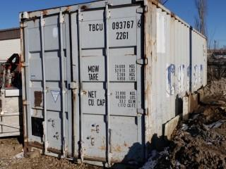 20ft Storage Container *Note: Contents Not Included, Buyer Responsible For Load Out* *Item Cannot Be Removed Until November 12 Unless Mutually Agreed Upon*