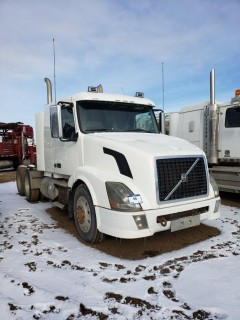 "2009 Volvo T/A Truck Tractor C/w ISX 525 HP, 18 Speed, 13,200LB Frt, A/R 46,000LB Rears, 34"" Sleeper. Showing 460,526 KMS. VIN# 4V4NC9TK39N270441"
