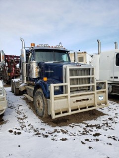 "2011 Western Star 4900FA T/A Truck Tractor c/w Detroit Diesel DD15 560HP, 18 Speed, 12,000lb Frt, 46,000lb Rears And 32"" Sleeper. Showing 964,345 KMS, 40,014 HRS. VIN # 5KJJAEDR3BPAN1074"