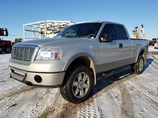 2006 Ford F-150 Lariat 4X4 Extended Cab Pick Up c/w 5.4 Triton, A/T, Box Cover, Showing 169,598 KMS. VIN # 1FTPX14566FB06514