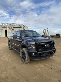 2015 Ford F-350 4X4 Crew Cab Pick Up c/w 6.7L Power Stroke Diesel, A/T, 5th Wheel Hitch. VIN # 1FT8W3BT4FEA29801
